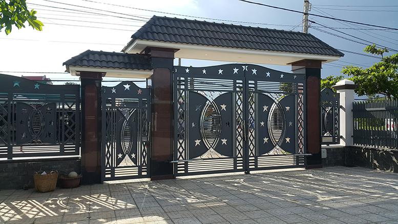 Cửa cổng sắt cắt CNC nghệ thuật đẹp-134
