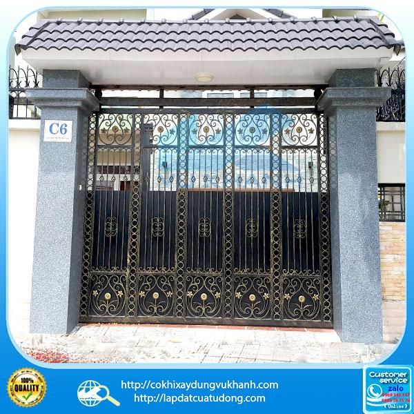 Cửa cổng lùa sắt mỹ thuật - gắn motor G-Foce 55932-12