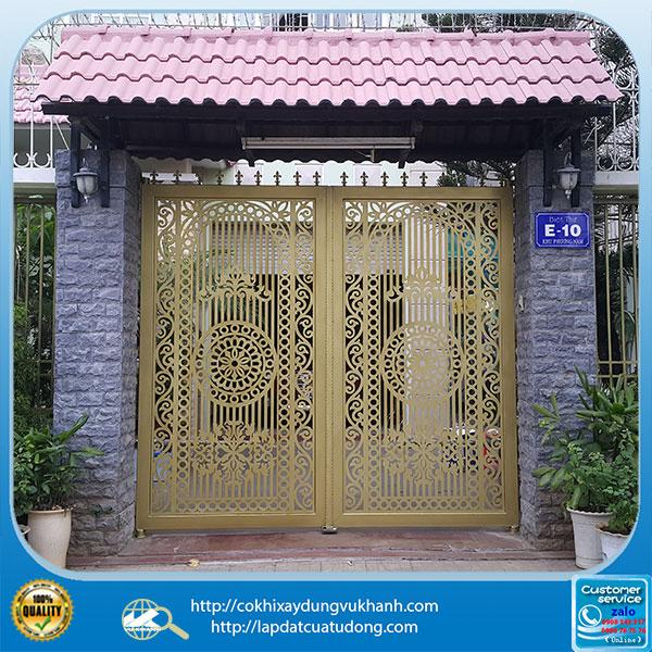 Mẫu cửa cổng hoa văn cắt cnc-4