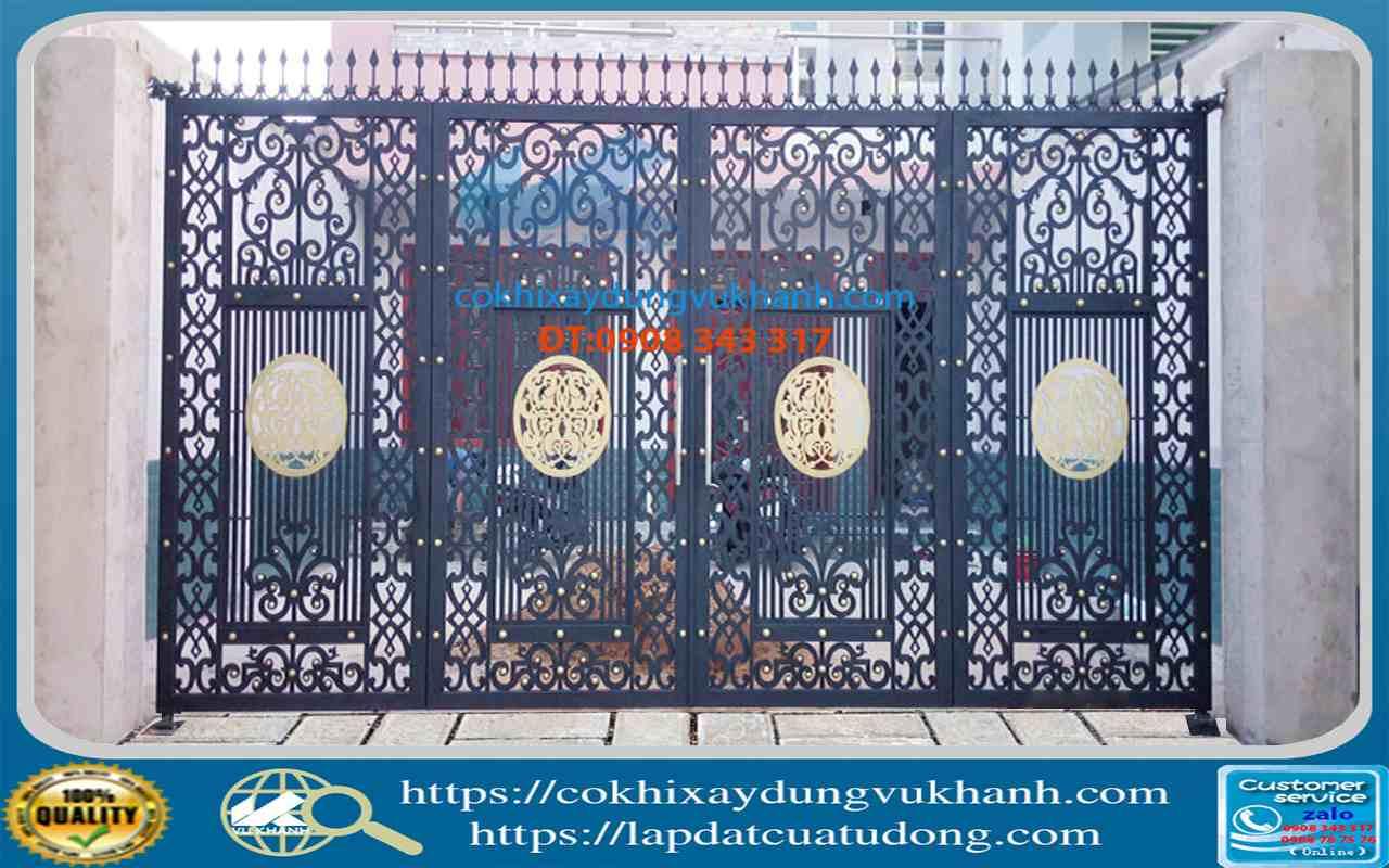 Cửa Cổng Bốn Cánh Cắt Hoa Văn CNC SP-68871-61