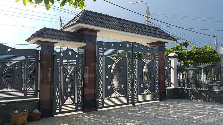 Cửa cổng sắt cắt CNC nghệ thuật đẹp-135