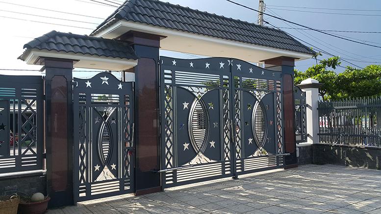 Cửa cổng sắt cắt CNC nghệ thuật đẹp-136