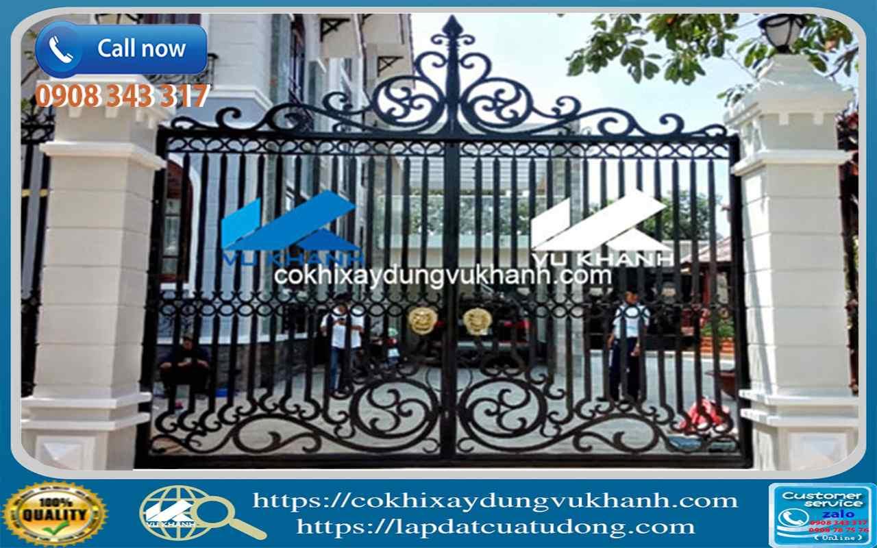 Cửa Cổng Sắt Cắt Hoa Văn CNC SP-37434-62