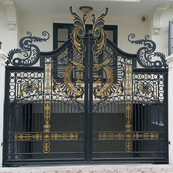 Trọn bộ 50 mẫu cửa cổng sắt mỹ thuật đẹp hút hồn người xem-227