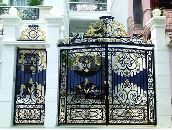 Trọn bộ 50 mẫu cửa cổng sắt mỹ thuật đẹp hút hồn người xem-185