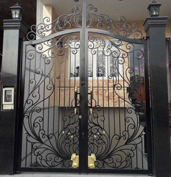Trọn bộ 50 mẫu cửa cổng sắt mỹ thuật đẹp hút hồn người xem-189