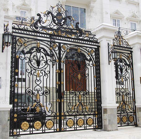 Trọn bộ 50 mẫu cửa cổng sắt mỹ thuật đẹp hút hồn người xem-187