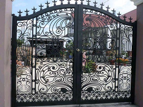 Trọn bộ 50 mẫu cửa cổng sắt mỹ thuật đẹp hút hồn người xem-199