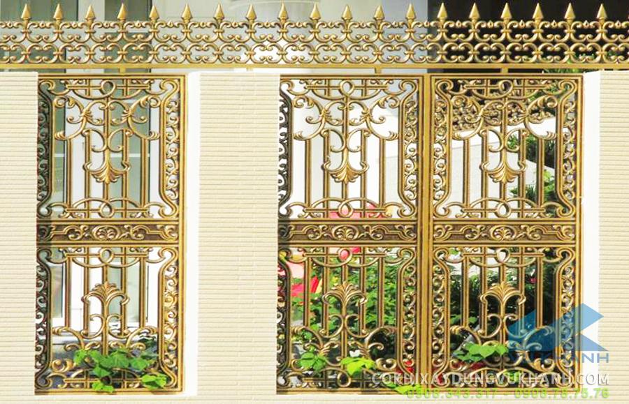 Hàng rào hợp kim nhôm đúc đẹp thách thức thời gian
