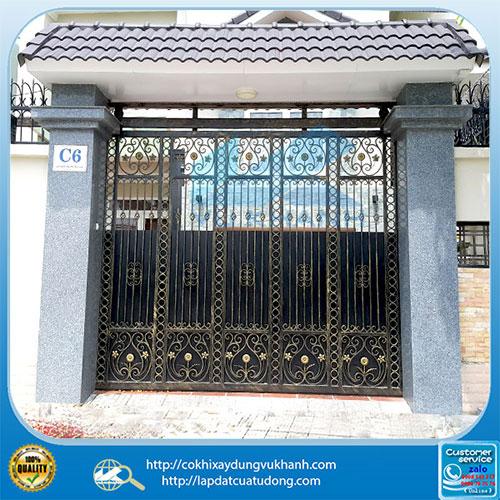 Cửa cổng lùa sắt mỹ thuật - gắn motor G-Foce 55932