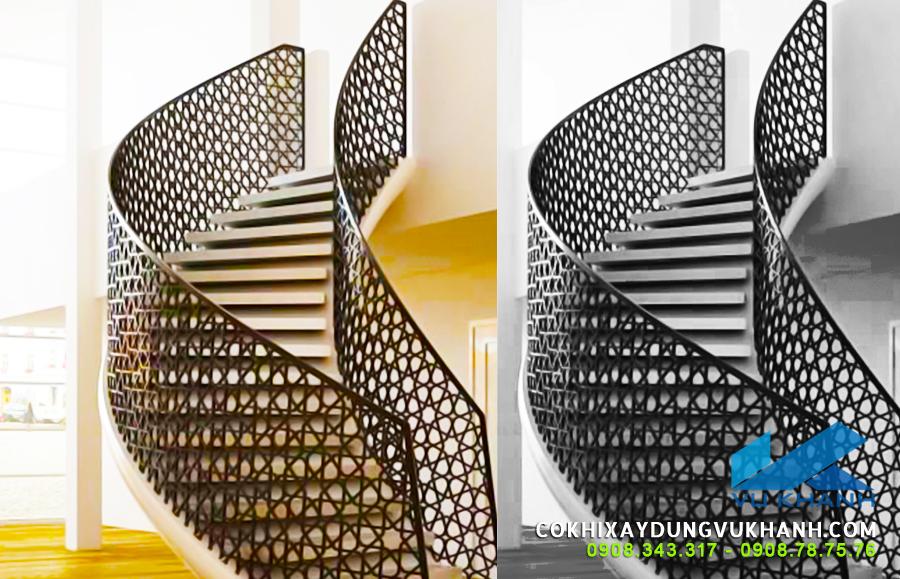 Thi công cầu thang CNC đẹp tại Vũng Tàu